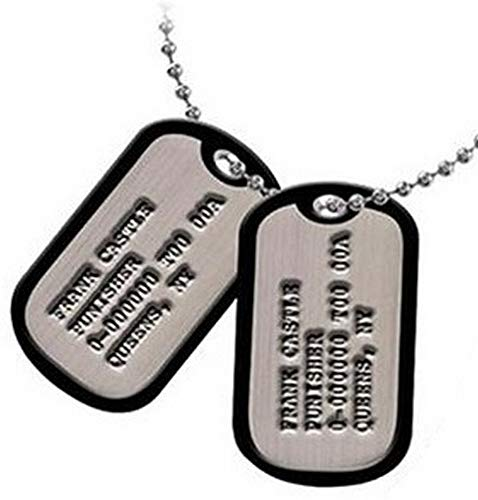 Marvel Comics - Punisher Frank Castle Exclusive Replica Dog Tags Collectable by The Punisher -