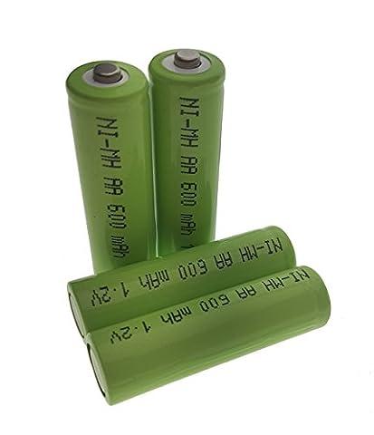 4x Batterie Ni-MH AA 600mAh 1.2V pour lampes solaire–– Leuchten–Rechargeable TG1000AA Trango