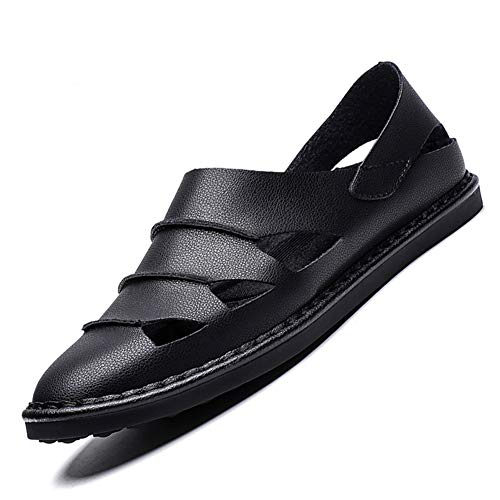 Hausschuhe Sandalen für männer Leder geschlossen zehen Hohle Strandschuhe Sneakers Outdoor atmungsaktive Anti rutsch Schuhe im Sommer