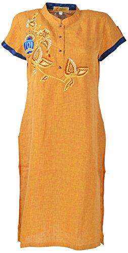Shree Liwas Women's Linen Straight Kurta