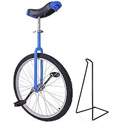 Funsport Monocycle Réglable 24 Pouces Bleu