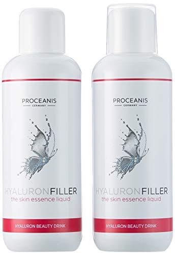Hyaluron-Filler zum Trinken/Anti-Aging Beauty Drink mit Hyaluronsäure, 2 x 25 Tage Anwendung für schöne Haut, 10ml tägl. Vegan, hochdosiert, Made in DE