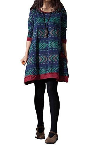 ammy-fashion-womens-ethnic-style-nordic-aztec-patterned-oversized-shirt-dress-uk-16