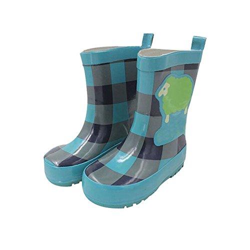 Meijunter Funny Kids Infants Antidérapant Imperméable Candy Colors Rainboots Bottes de pluie Caoutchouc Rain Shoes Chaussures nautiques blue