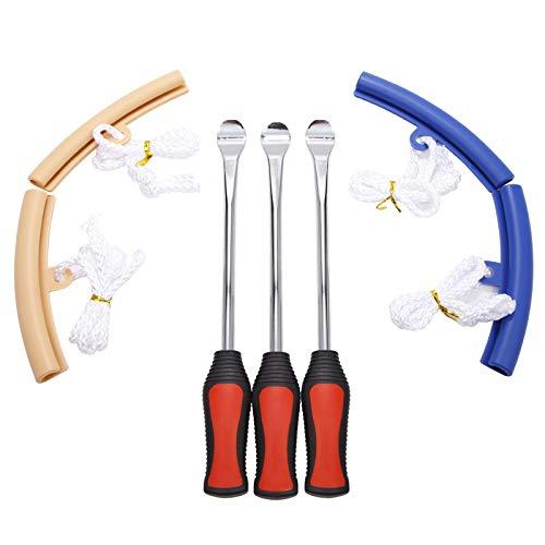 Anladia 3X Reifenmontierhebel Reifenheber Reifen Loeffel Rad Felge Protektoren Montiereisen Motorrad Fahrrad Werkzeug Tire Lever Tool Spoon Spoons Iron Kits (Set 1)