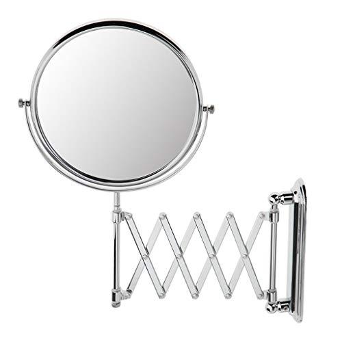 Tubayia Wandhalterung Schminkspiegel Klappbar Kosmetikspiegel mit 3X Vergrößerungsspiegel für Badezimmer (Vergrößerungsspiegel Wandhalterung)