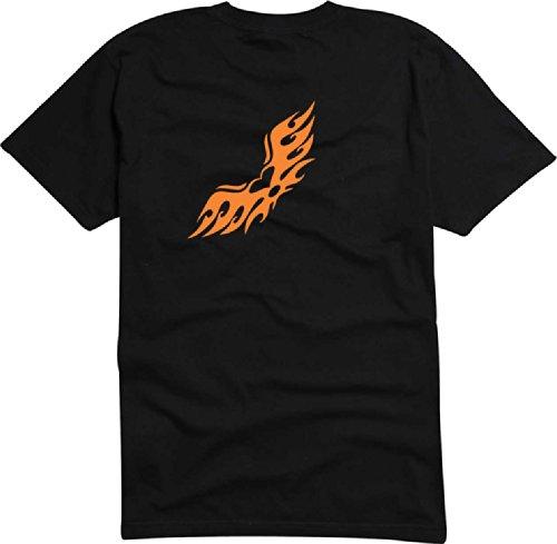 T-Shirt Herren Herz Flügel Fliegen Schwarz
