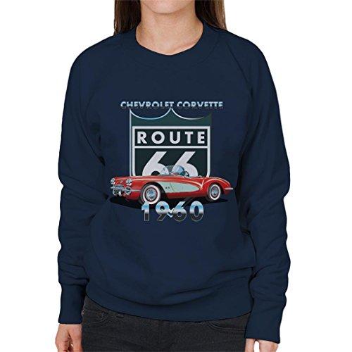 Chevrolet Corvette Route 66 1960 Women's Sweatshirt - Corvette Sweat-shirt