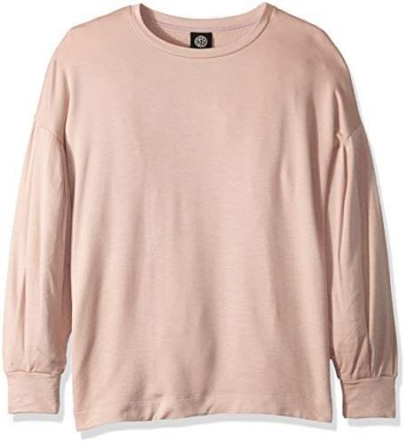 Bobeau Women's Apparel Damen Puff Sleeve Sweatshirt, Blush, Groß Puff Sleeve Hoodie