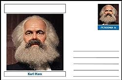 "Personalities - souvenir postcard (glossy 6"" x 4"" [15cm x 10cm] card) - Karl Marx - unused and superb RUSSIA COMMUNISM 405304"