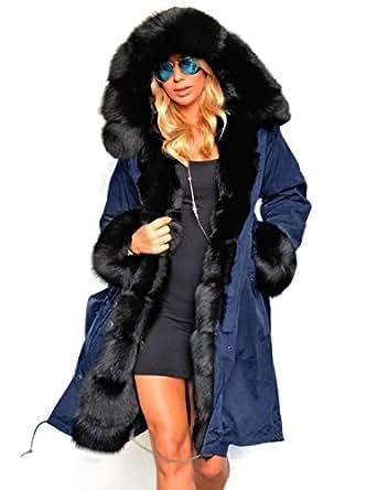 ZEARO Kapuzenjacke Damen Winterjacke Wintermantel Steppjacke Lange Parka Outwear Jacke Mantel Oberbekleidung
