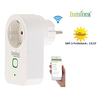 Luminea Home Control WiFi Steckdose: WLAN-Steckdose mit App, kompatibel mit Amazon Alexa & Google Assistant (Smart Steckdose)
