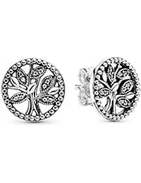 Pandora Mujer plata Pendientes de botón 297843CZ