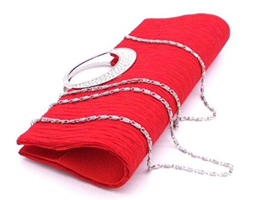Mejor Tienda A Comprar Barato En Línea Descuento Con Tarjeta De Crédito Fashion Lady Borsa Da Sera Pieghe Strass Borsa A Tracolla Borsa Da Donna Borsa Da Sposa Clutch Handbag Purse Chain Red Compras Finishline Baúl Envío Libre 2018 Unisex pRqDl3r