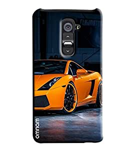 Omnam Orange Sports Car Lamborigini Printed Designer Back Cover Case For LG G2