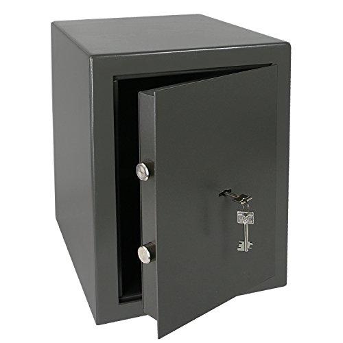 HMF 43200-1111 Möbeltresor Wertschutzschrank, Sicherheitsstufe B, VDMA 24992, 30 x 42 x 38 cm, Ordner, Anthrazit