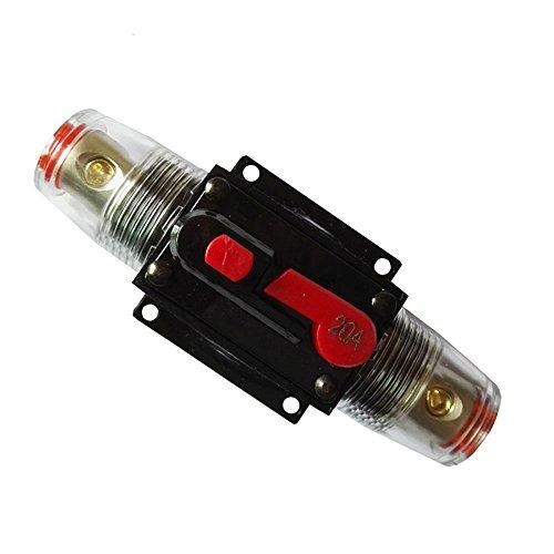RKURCK Porte-fusible DC 12V 20A 30A 50A 60A 80A 100A pour la Voiture Marine Trolling Motors Protection Du Système D'inverseur Solaire Audio 20 Amps