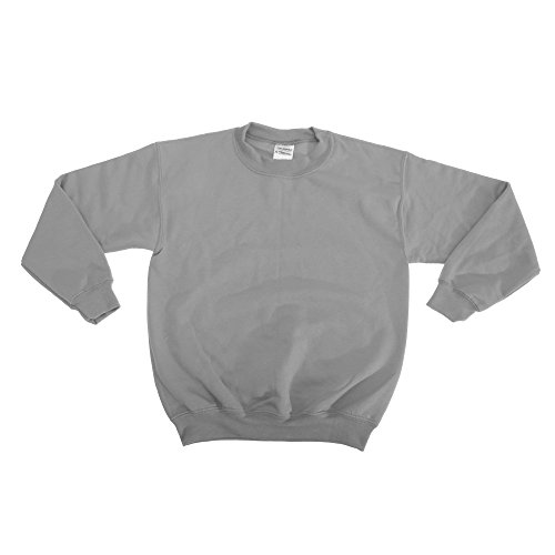 Gildan Crewneck Pullover für Kinder (L) (Grau) (Kinder Sweatshirt Gildan)