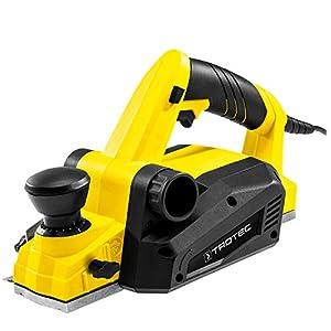 TROTEC Cepillo eléctrico para madera PPLS 10-750, 750 W, Anchura de cepillado: 82 mm, Profundidad de cepillado: 0-3 mm, Profundidad de plegado:0-15 mm, Potente, Compacto, Bricolaje