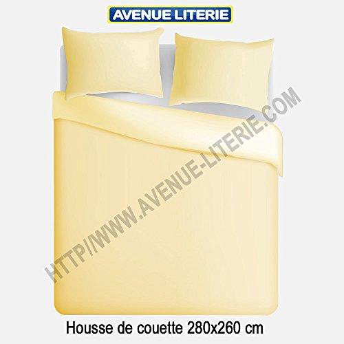 Avenue Literie Bettbezug, Polycotton, 280 x 260 cm, elfenbeinfarben -