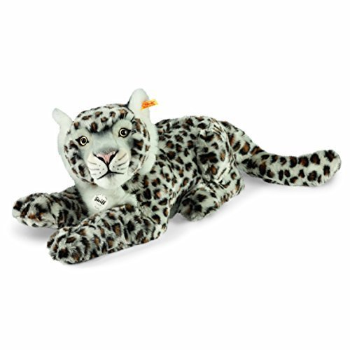 Leopard Light (Steiff 42cm Paddy Spotted Snow Leopard (Light Grey) by Steiff)