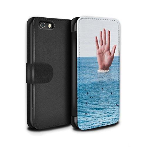 Stuff4 Coque/Etui/Housse Cuir PU Case/Cover pour Apple iPhone 5/5S / Travaux Routiers Design / Vers Bas Sous Collection Grande Vague