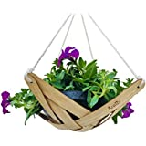 Kreliv Bamboo Terracotta Hanging Planter - Now Available in Two Sizes
