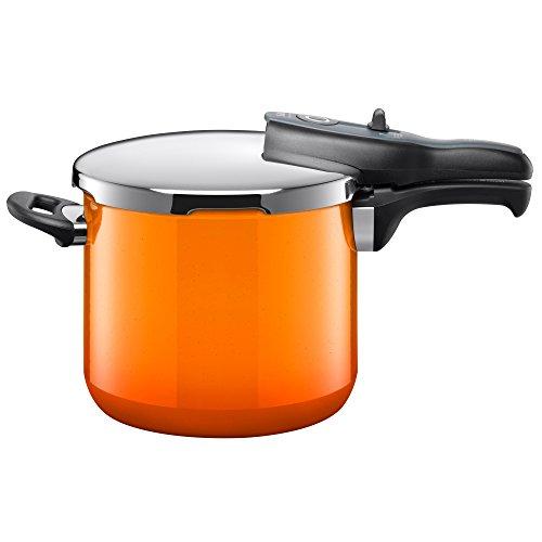 Silit Sicomatic® t de Plus Olla Rápida 6,5L sin Uso Diámetro 22Cm Naranja Passion Naranja fabricado en Alemania Escala en litros Silargan® La Función cerámica inducción