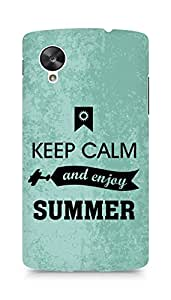 Amez Keey Calm and Enjoy Summer Back Cover For LG Nexus 5