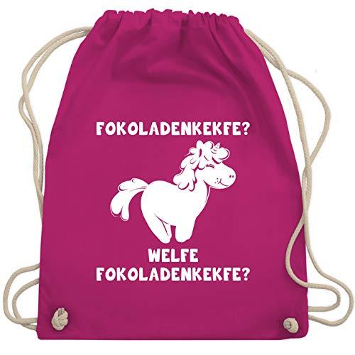 Sprüche Kind - Fokoladenkekfe Einhorn - Unisize - Fuchsia - WM110 - Turnbeutel & Gym Bag