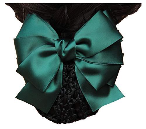 Barrette à cheveux femme Barrette Accessoire cheveux chignon Snood, vert
