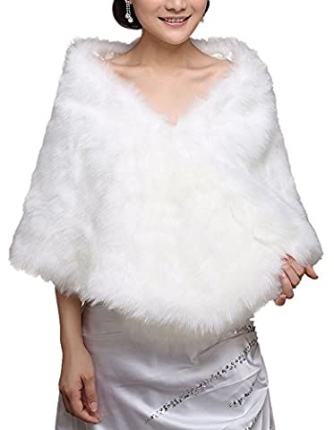 Insun Imitation Fourrure pour Femmes Wrap Étole de Châle et Boléro Cape Veste Boléro pour Robe de Mariée