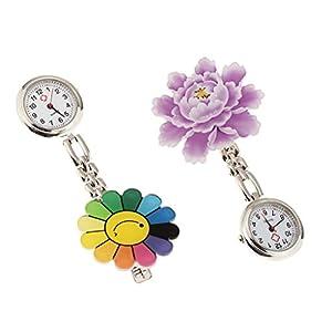 2 Stücke Kleine Krankenschwester Taschenuhr Blume Taschenuhr Krankenschwester Clip Uhr