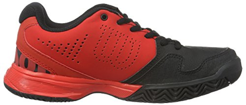 Wilson Kaos Comp Jr - Chaussures de Tennis - Mixte Enfant Rouge (radiant red/black/radiant red)