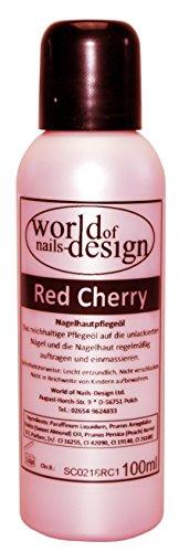 World Of Nails Design pflegendes Nagelöl Red Cherry für die ganze Familie mit dem Duft von reifen Kirschen 100 ml