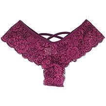 Bestow Sexy Women Lace Flowers Ropa Interior de Cintura Baja Bragas Tanga Lencer¨ªa Tangas