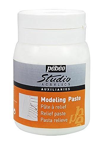 Pebeo 500 ml Studio Acrylics Auxiliaries Modeling Paste,
