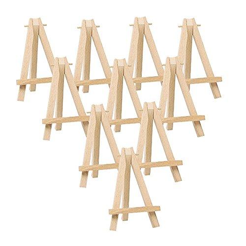 10Stück Künstler Staffelei Dreieck Holz - Hochzeit Tisch Stand Anzeige Kartenhalter, 9 x 16cm