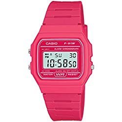 Classic Hot Pink Watch F 91WC 4AEF from Casio
