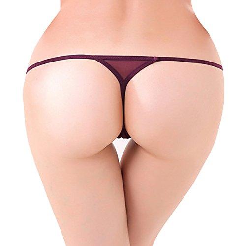 Dissa 2er Pack Z2097 Damen Panties Strings Tanga Violett