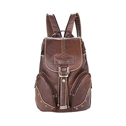 Lycailcy  LYC-Lycailcy-A05-5, Sac à main porté au dos pour femme Marron Light Brown(10.2 x 5.9 x 14.2 inches) taille unique Dark Brown(10.2 x 5.9 x 14.2 inches)