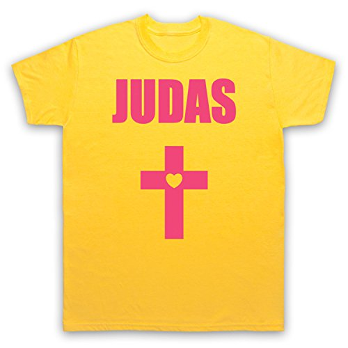 Inspiriert durch Lady Gaga Judas Cross Born This Way Unofficial Herren T-Shirt Gelb