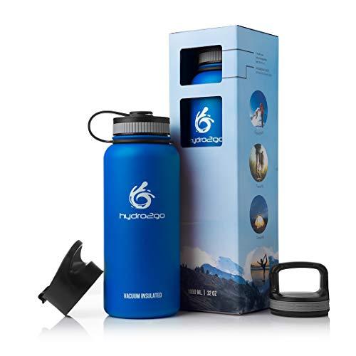 """Edelstahl Trinkflasche \""""X-AlpsBottle\"""" 1l   Thermosflasche + 3 Trinkverschlüsse   Auslaufsichere Isolierflasche   Outdoor Sportflasche   Thermoskanne - BPA Frei   Isolierkanne, Thermotrinkflasche"""