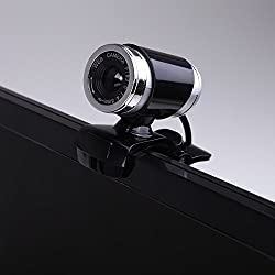 Docooler USB 2.0 12 Megapixel HD Camera Web Cam with MIC Clip-on 360 Degree for Desktop Skype Computer PC Laptop Black Black