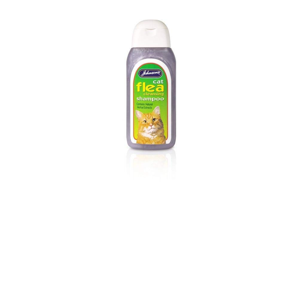 JVP Johnsons Vet Cat Flea Cleansing Shampoo, 125 ml