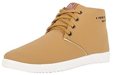 Globalite Men Beige Synthetic Sneakers 7 UK