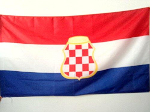 Kroatische Flagge (FLAGGE KROATISCHE REPUBLIK HERCEG-BOSNA 1991-1994 150x90cm - HR HB FAHNE 90 x 150 cm scheide für Mast - flaggen AZ FLAG Top Qualität)