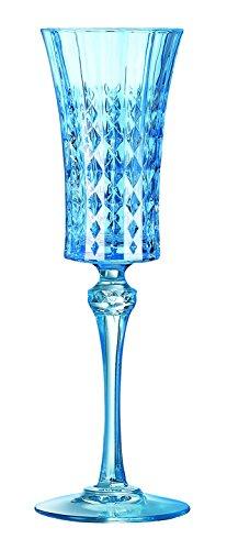 Cristal d'Arques 8011245.0 Lady Diamond Lot de 2 Flutes Diamax Bleu Moyen 15 cl