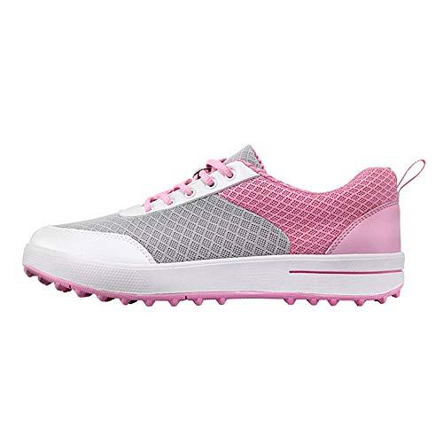Scarpe da Golf da Donna, Scarpe da Golf in Mesh Traspirante Ultraleggero Senza Punte, Scarpe da Allenamento per Camminata da Golf Antiscivolo e Resistenti all'Usura