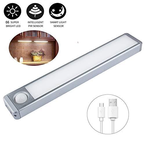 LED-Schrankleuchten Bewegungsmelder Kabellose wiederaufladbare Kabinenbeleuchtung für den Schrankschrank unter dem Küchenschrank Garage 2 Sensormodi (Nur Motion, Motion & Light)